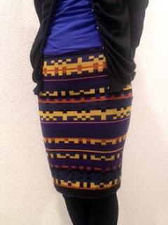 ニットのタイトスカート