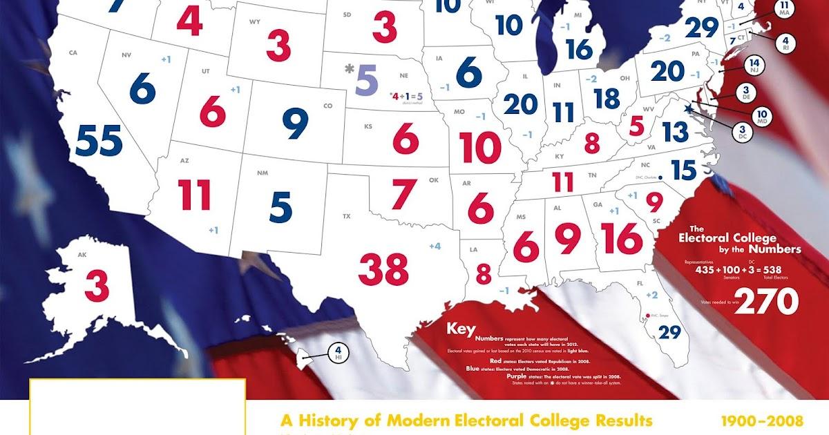 electoral college map 2010 - photo #14