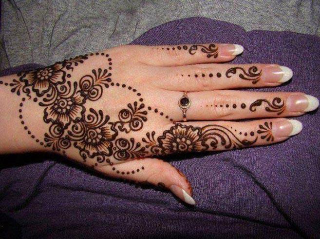 Simple Mehndi Designs for Left Hand