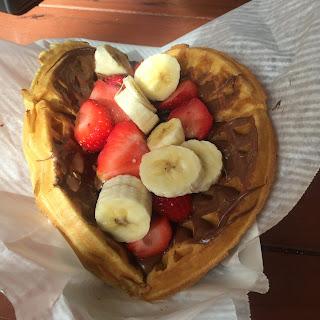 Disney Snacks – Homemade Waffle with Nutella & Fresh Fruit – from Sleepy Hollow at Magic Kingdom