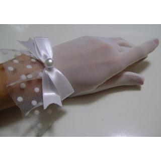 beyaz tül eldiven nikah eldiveni gelin eldiveni
