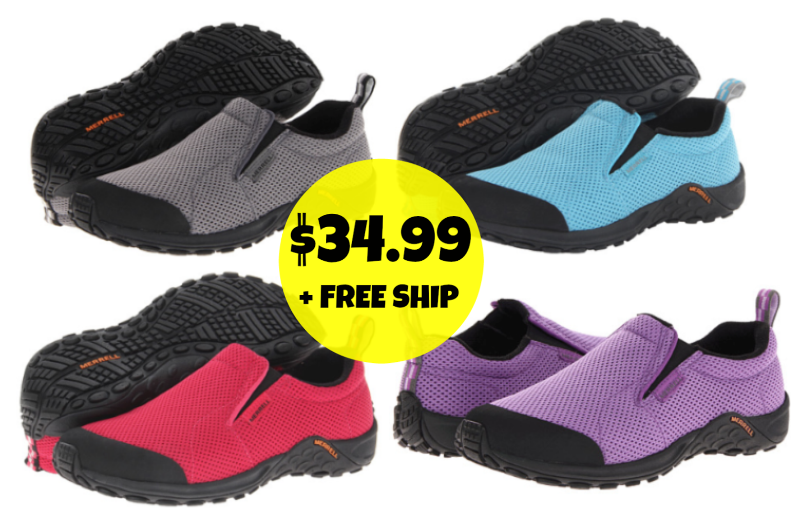 6pm:  Women's Merrell Jungle Moc Touch Breeze Slip-Ons = $34.99 + FREE Shipping! Regularly $75!