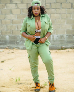 Busty Corps Member Shows Off Her B**Bs & Underwear While Wearing The NYSC Uniform