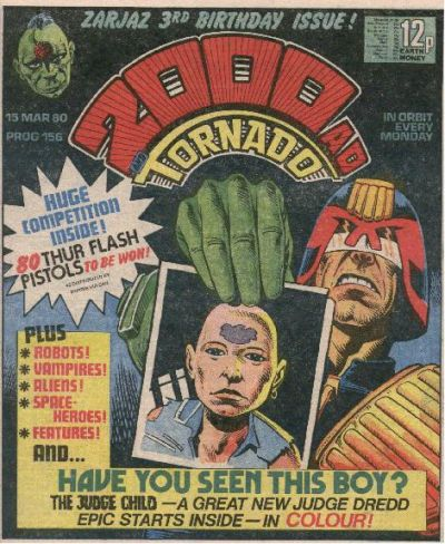 2000 AD Prog 156, Judge Dredd, the Judge Child