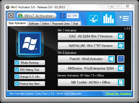 FJ Softwares: Win 7 Activator 5 0