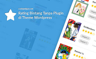 Cara Menambahkan Rating Bintang di Theme Wordpress Tanpa Plugin