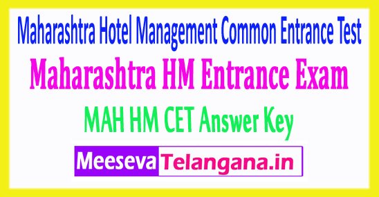 Maharashtra Hotel Management Common Entrance Test Mah HM CET Answer Key 2018 Download