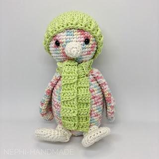 Nephi-Handmade, Crochet Along penguin, Pinguin CAL