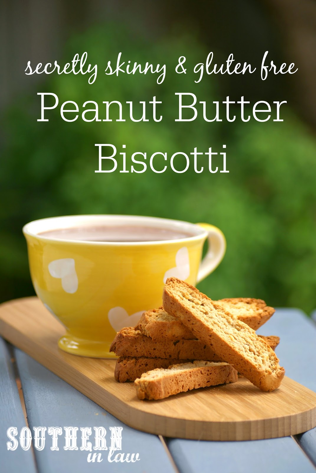 Secretly Skinny Peanut Butter Biscotti - low fat, low sugar, gluten free, clean eating friendly, healthy biscotti recipe