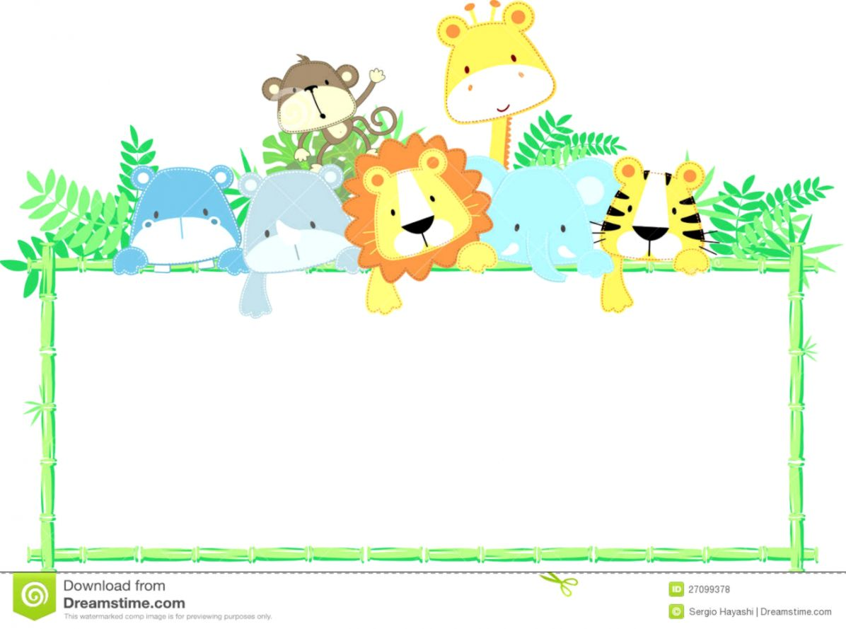 hight resolution of baby animal border clipart