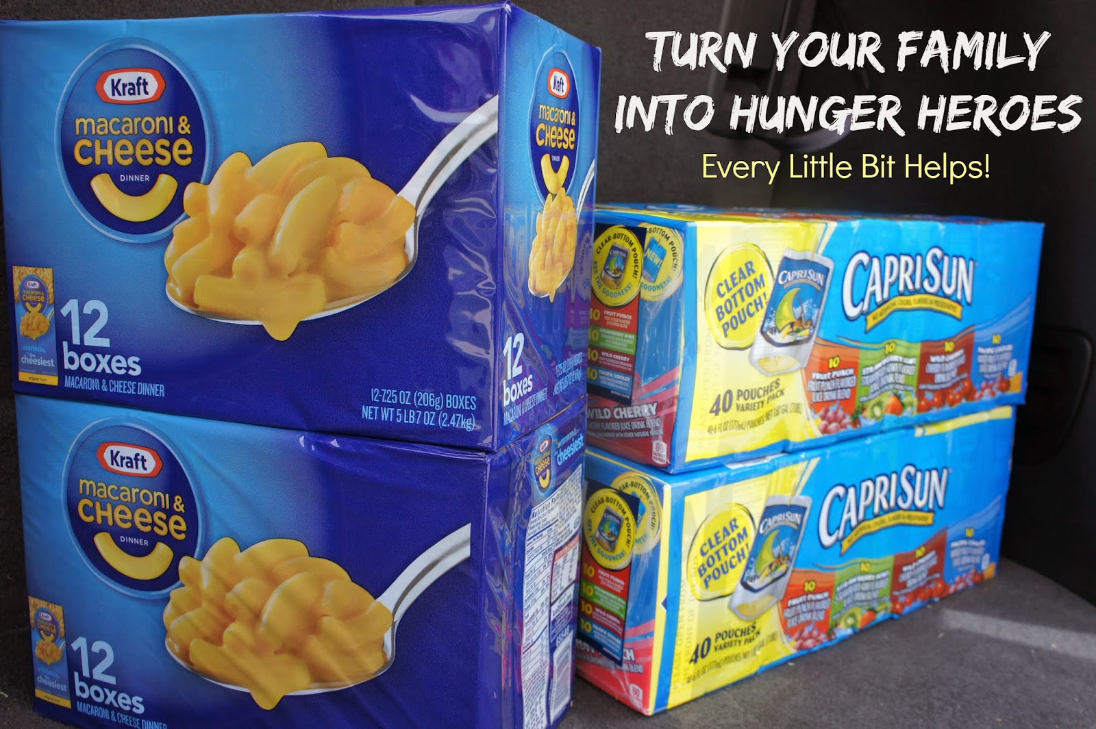 Your family can help fight hunger with Tyson, Kraft, Capri Sun and Sam's