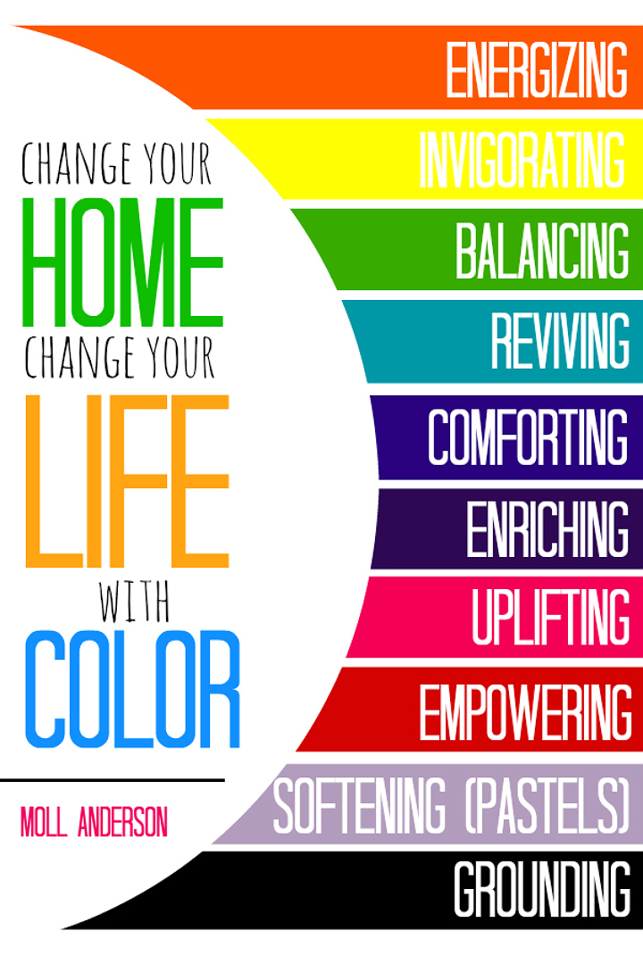 Every color has a story- Explore the meaning of color within your life and learn how to harness your color story to empower what moves you with Moll Anderson's new book- Change Your Home, Change Your Life, A Color Story. #InvigoratingYellow #LiveColor (AD)