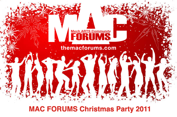 MAC forums Christmas Party poster