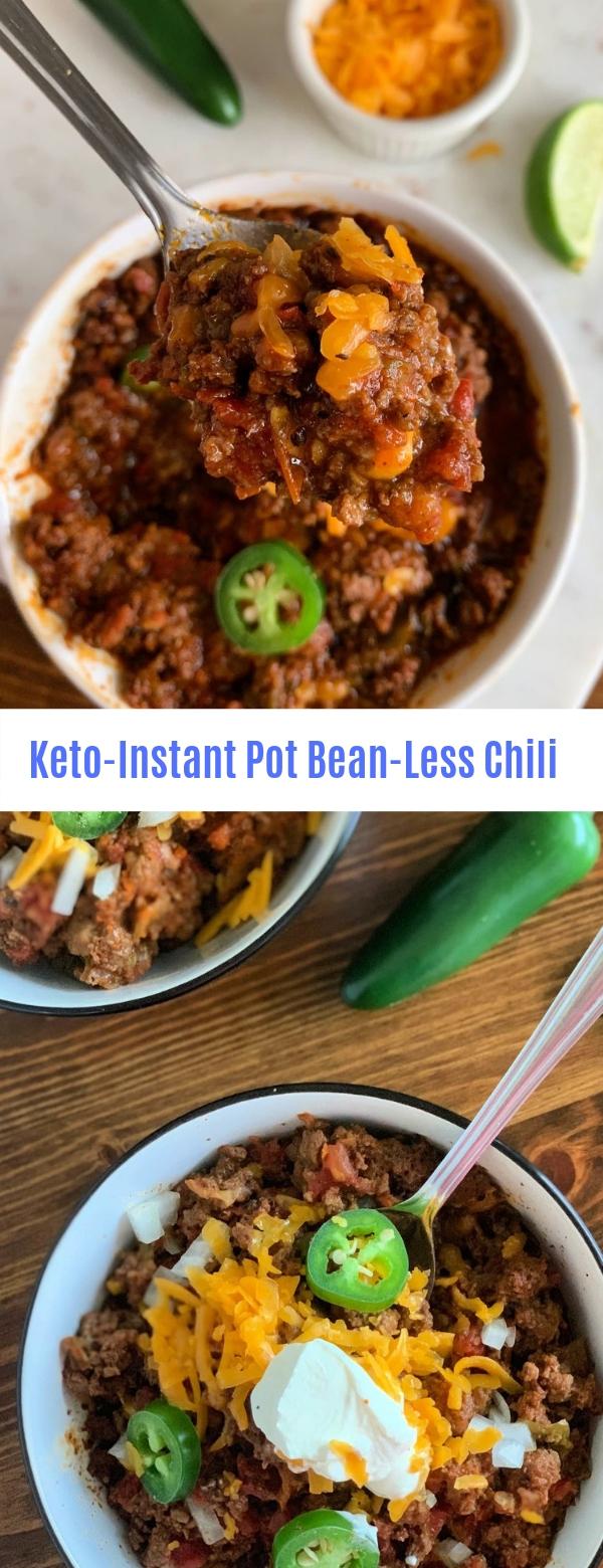 Keto-Instant Pot Bean-Less Chili
