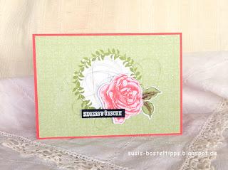 """Segenswünsche Karte handgemacht mit dem Stampin' Up! Kartensortiment """"Erinnerungen und mehr"""" Blumengarten"""