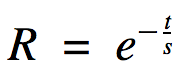 Ebbinghaus's equation, aka the spacing effect equation; can be applied to get straight A's
