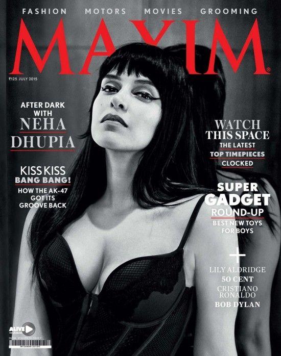 New Bollywood Actress Pics 2016 neha dupia on magazine Maxim