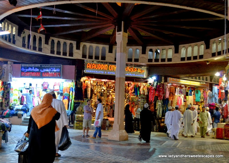 inside Mutrah souq in Oman