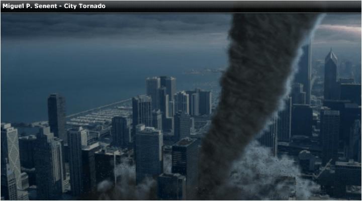 Seven wonders of the world: tornado city wallpaper