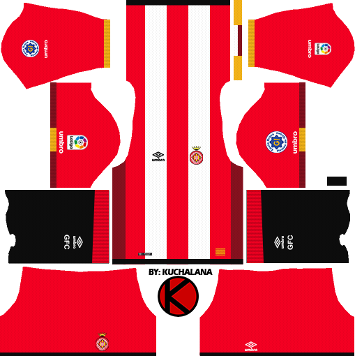 14da803aa Girona FC 2017/18 - Dream League Soccer Kits - Kuchalana