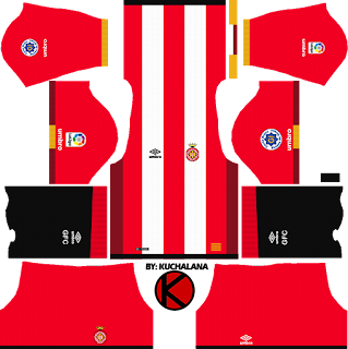 Girona FC 2017/18 - Dream League Soccer Kits