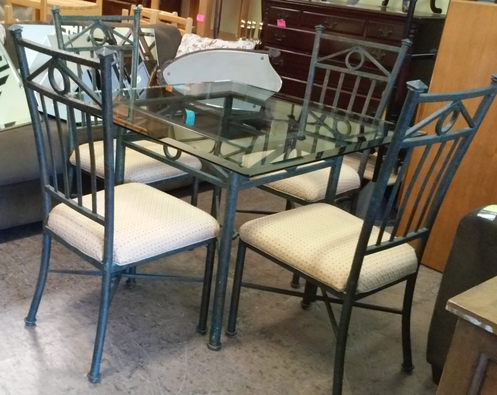 Uhuru Furniture Collectibles Sold 40 Square Iron Glass