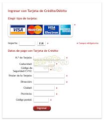 formulario de pago en una columna