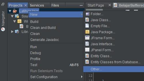 Screenshot membuat file baru