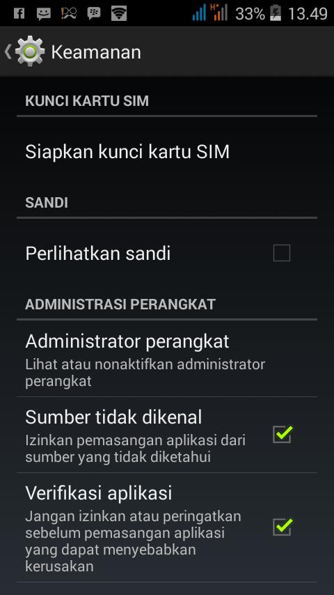 Pengaturan Android