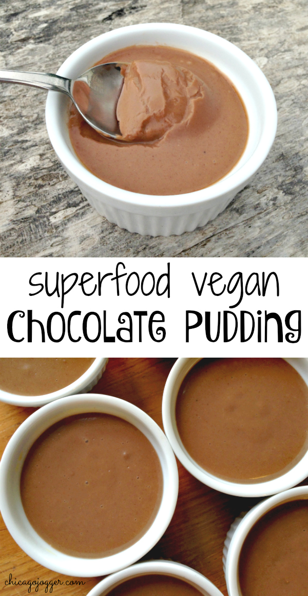 Superfood Vegan Chocolate Pudding | Chicago Jogger