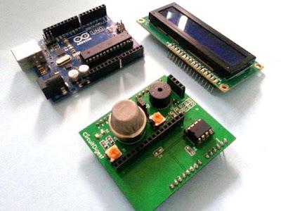 Detector de humo con Arduino Shield terminada