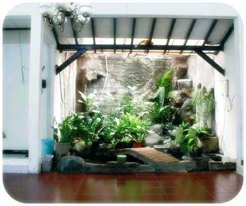 Taman Dinding Dalam Rumah Minimalis