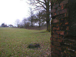 Photograph of Type 24 pillbox with what could be the remains of the stop line anti-tank ditch running east Image courtesy of Jim Apps