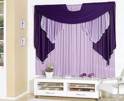 violet purple living room curtains