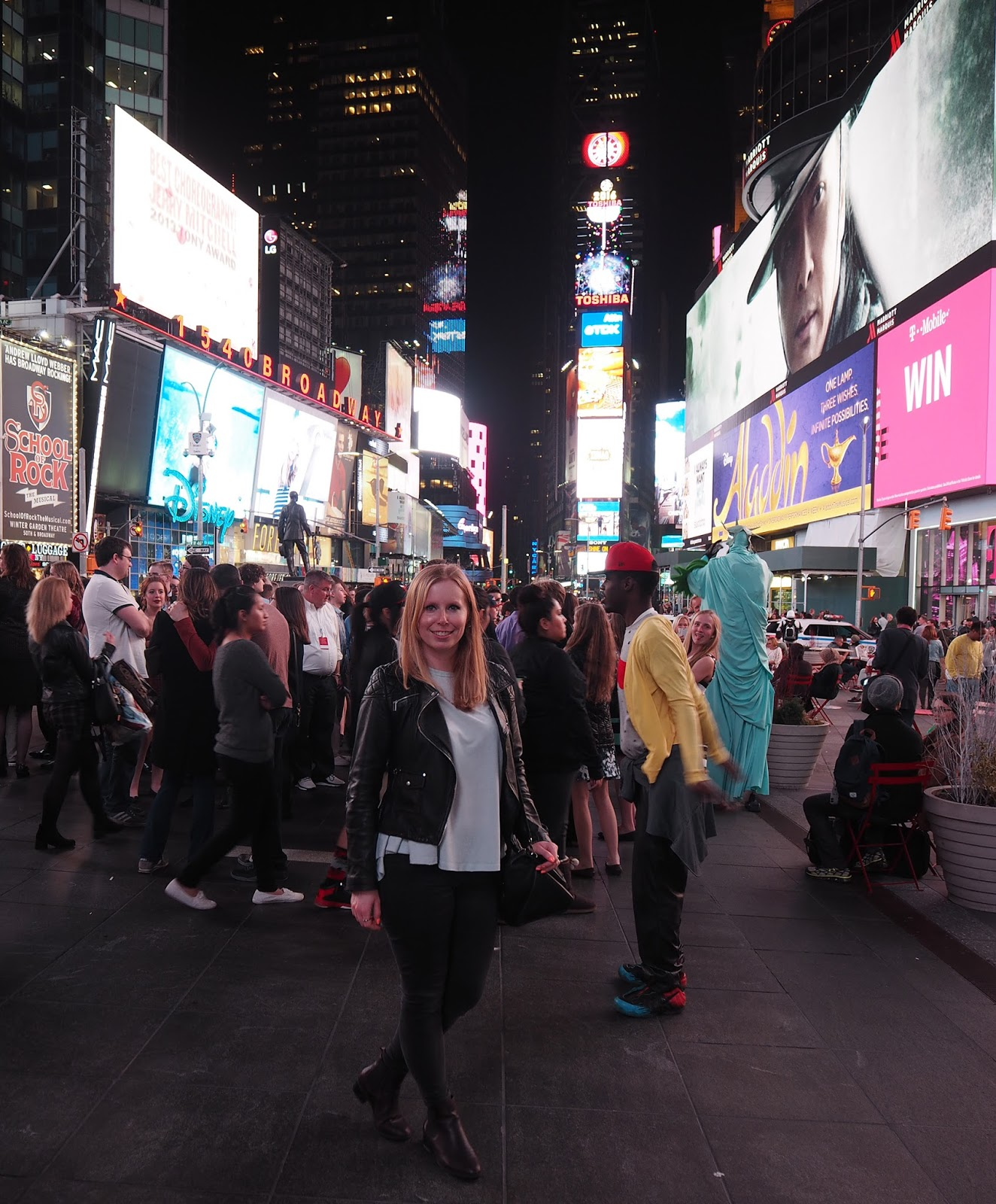 Tales of a Pale Face in Times Square