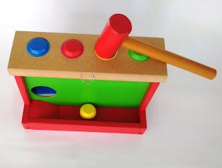 Bola Pukul Mainan Kayuku Agdia Toys