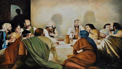 imagem de Jesus na última ceia
