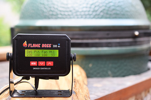 I think the Flame Boss is the best controller for a kamado grill like the primo or big green egg.