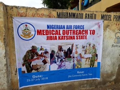 2,000 flood victims benefit from Nigerian air force medical outreach in Katsina