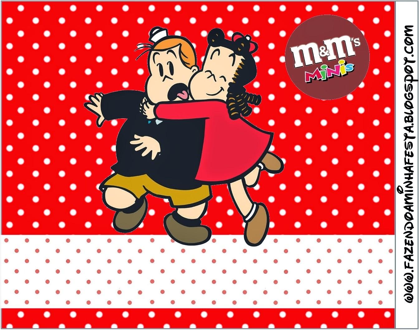 Etiqueta M&M para Imprimir Gratis de La Pequeña Lulú.