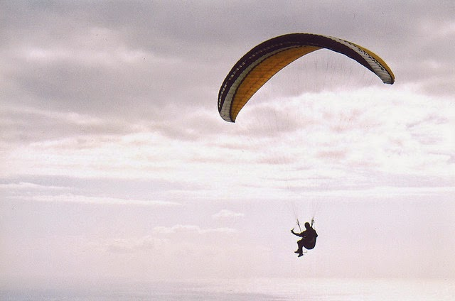 Parachuting action sport of exiting an