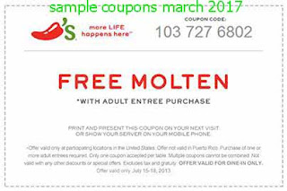 Chili's coupons march
