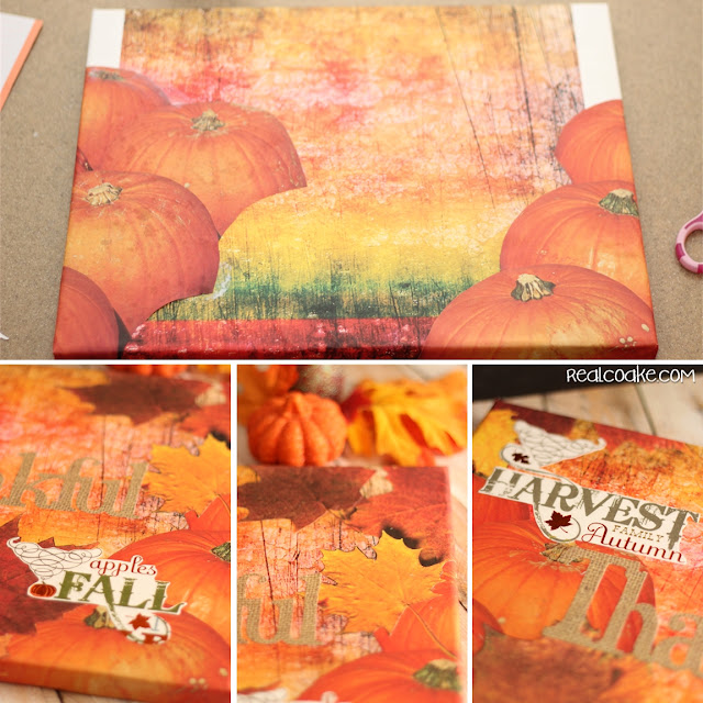 Beautiful, easy to create and inexpensive DIY wall art - perfect for each season, Holiday's or to fill up bare walls. #realcoake