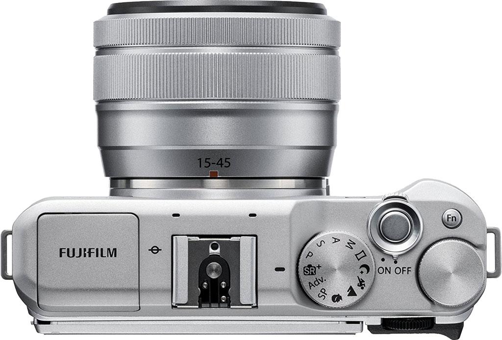 Fujifilm X-A5, вид сверху