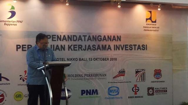 Bappenas Fasilitasi Perjanjian Kerja Sama Investasi Senilai Rp47 T