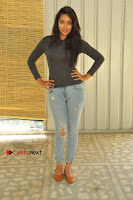 Actress Bhanu Tripathri Pos in Ripped Jeans at Iddari Madhya 18 Movie Pressmeet  0002.JPG