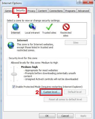 Cara setting internet explorer untuk akses internet CCTV