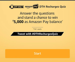 Amazon DTH Recharge Quiz Answers