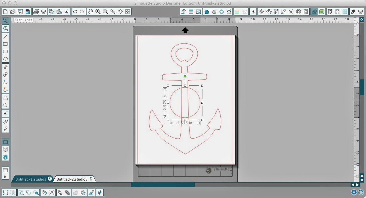 Circle, split anchor, Silhouette Studio, Silhouette tutorial