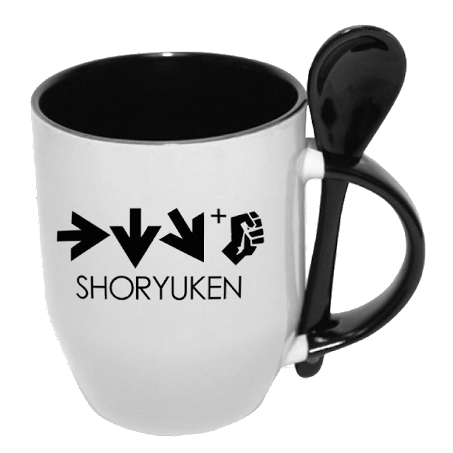 Caneca com colher Shoryuken